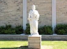 Helgon Michael Statue med svärdet i hand Fotografering för Bildbyråer