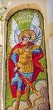 Helgon Miichael Angel Mosaic Lavra Cathedral Kiev Ukraina fotografering för bildbyråer