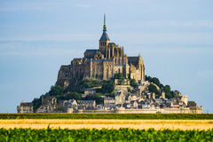 Helgon Mont Michel - Frankrike - Normandie Arkivfoton