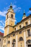 Helgon Nicholas Cathedral av Ljubljana, Slovenien Royaltyfri Fotografi