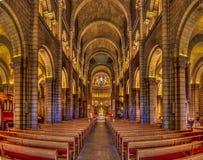 Helgon Nicholas Cathedral i Monaco Ville royaltyfri foto