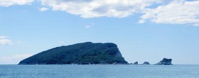 Helgon Nicholas Island Sveti Nikola Island Budva, Montenegro Royaltyfri Fotografi