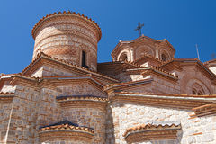 Helgon Panteleimon Monastery Ohrid - Makedonien Royaltyfria Bilder