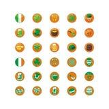 Helgon Patrick Day Icons Pack Royaltyfri Bild