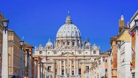 Helgon Peter Basilica i Vaticanen, Rome, Italien Royaltyfri Bild