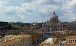 Helgon Peter Basilica, Vaticanen - Rome, Italien arkivbild