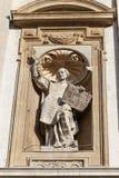 Helgon Peter och Paul Church, detaljer av fasaden, Krakow, Polen Royaltyfria Bilder