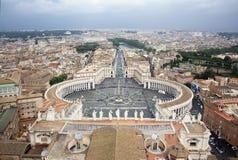 Helgon Peters Square i Vatican City Royaltyfri Fotografi
