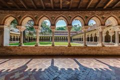 Helgon Pierre Abbey i Moissac, Frankrike arkivbilder