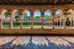 Helgon Pierre Abbey i Moissac, Frankrike Arkivbild