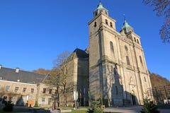 Helgon Pierre, Paul och Quirin Church, Malmedy, Belgien fotografering för bildbyråer