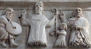Helgon portal av domkyrkan av St Domnius i splittring Royaltyfri Foto