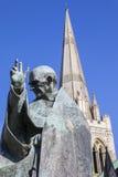 Helgon Richard av Chichester och den Chichester domkyrkan Arkivbild