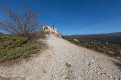 Helgon-Saturnin-les-benägna - Luberon - Provence - Frankrike Arkivbild