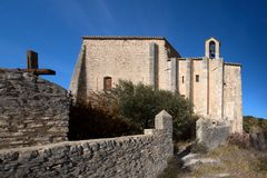 Helgon-Saturnin-les-benägna - Luberon - Provence - Frankrike Royaltyfria Foton