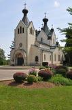 Helgon Sava Serbian Orthodox Monastery Arkivfoto