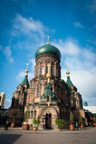Helgon Sophia Cathedral i Harbin Arkivbild