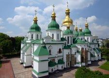 Helgon Sophia Cathedral i Kiev Arkivfoton