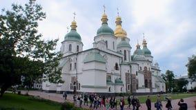 Helgon Sophia Cathedral i Kiev, Ukraina, stock video