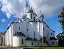 Helgon Sophia Cathedral i Veliky Novgorod Arkivfoton