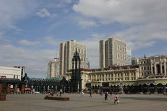 Helgon Sophia Cathedral Plaza Arkivfoto