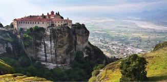 Helgon Stephen Holy Monastery, Meteora, Grekland Arkivbild