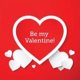 Helgon Valentine Abstract Vector Hearts Card eller royaltyfri illustrationer