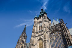 Helgon Vitus Cathedral i Prague Royaltyfria Foton