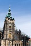 Helgon Vitus Cathedral i Prague, Tjeckien Arkivbild
