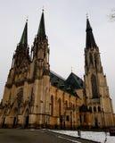Helgon Wenceslas Cathedral i Olomouc, Tjeckien royaltyfria foton