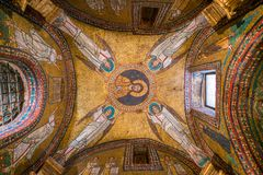 Helgon Zeno Chapel i basilikan av Santa Prassede i Rome, Italien arkivfoto