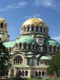 HelgonAlexander Nevsky domkyrka i Sofia, Bulgarien Royaltyfri Foto