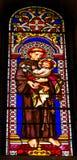 HelgonAnthony Padua Stained Glass Baptistery domkyrka Pisa Ital arkivbilder
