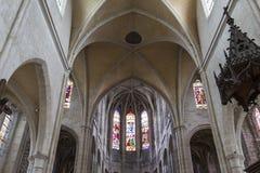 HelgonAntoine kyrka, Compiegne, Oise, Frankrike arkivbild