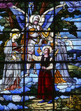 HelgonAntoine kyrka, Compiegne, Oise, Frankrike royaltyfri foto