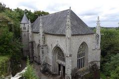 HelgonBarbe kapell, Le Faouet, Brittany, Frankrike Arkivbild