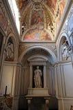 HelgonCatherine staty i det Theodoli kapellet av kyrkan av Santa Maria del Popolo, Rome Royaltyfria Foton