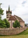 HelgonGeorges kyrka i Chatenois, Alsace, Frankrike Royaltyfri Bild