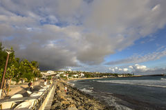 HelgonGilles strand, La Reunion Island, Frankrike Royaltyfria Bilder