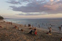 HelgonGilles strand, La Reunion Island, Frankrike Arkivbilder