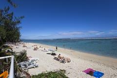 HelgonGilles strand, La Reunion Island, Frankrike Royaltyfria Foton