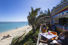 HelgonGilles strand, La Reunion Island, Frankrike Royaltyfri Fotografi
