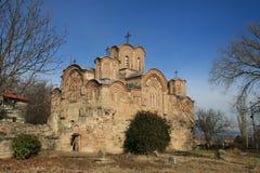 HelgonGjorgi kyrka nära Kumanovo Fotografering för Bildbyråer