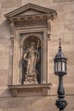 HelgonHieronymus skulptur Arkivfoto
