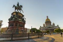 HelgonIsaac's domkyrka den största ryska ortodoxa domkyrkan Arkivbilder