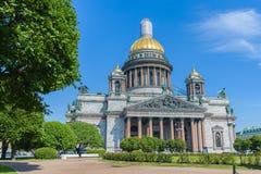 HelgonIsaac's domkyrka den största ryska ortodoxa domkyrkan Arkivfoton