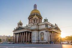 HelgonIsaac's domkyrka den största ryska ortodoxa domkyrkan Royaltyfria Bilder