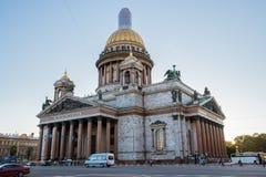 HelgonIsaac's domkyrka den största ryska ortodoxa domkyrkan Arkivbild
