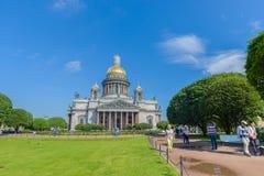 HelgonIsaac's domkyrka den största ryska ortodoxa domkyrkan Royaltyfri Fotografi