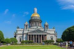 HelgonIsaac's domkyrka den största ryska ortodoxa domkyrkan Fotografering för Bildbyråer